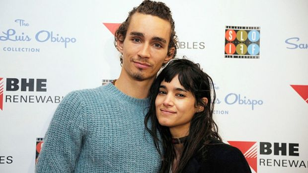 Robert Sheehan and Sofia Boutella. Photograph: Phil Klein/Getty Images