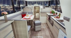 Emerald Star's new boats are made in Poland by Delphia Yachts and come with up to three en-suite double cabins and large saloons.
