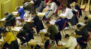 Both the Junior Cert and Leaving Cert exams will get under way with English papers on Wednesday.  File photograph: Eric Luke/The Irish Times