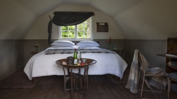 A glamping bedroom at Ballyvolane House in Co Cork. Photograph: James Fennell