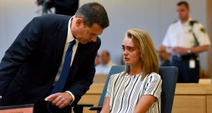 Michelle Carter:  accused of involuntary manslaughter in the suicide of her boyfriend, Conrad Roy. Photograph: Faith Ninivaggi/The New York Times