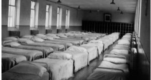 A dormitory at St Conleth's Reformatory School, Daingean, Co Offaly
