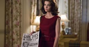 Katie Holmes as Jackie Kennedy Onassis in the miniseries The Kennedys: After Camelot which aiirs on RTE on Friday. Photograph: Ken Woroner/Reelz via AP