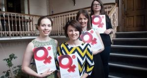 Pictured at the report's launch were researchers (L-R) Dr Tanya Dean, Dr Brenda Donohue, Dr Ciara O'Dowd and Ciara Murphy. Photograph: Kate Horgan