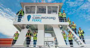 Scenic Carlingford Ferry, a new cross-Border 44-car ferry service linking the Mournes and Cooley mountain regions, is making its first sailing this summer and will run all year round.