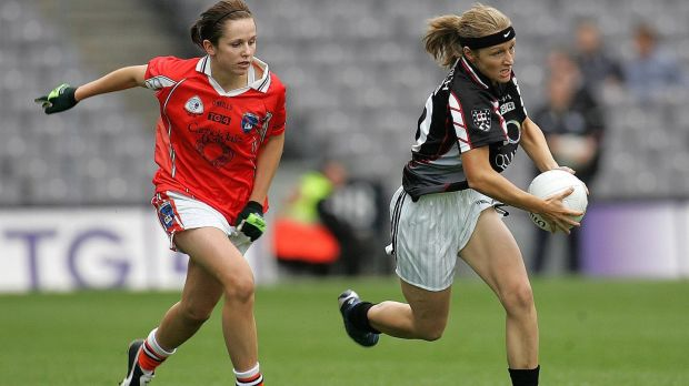 Etna Flanagan of Sligo in action in the All Ireland Ladies Junior final in 2005. Photograph: Inpho
