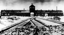 "Auschwitz: the SS doctor Fritz Klein, asked about his Hippocratic oath, said, ""Out of respect for human life I would remove a gangrenous appendix from a diseased body. The Jew is the gangrenous appendix in the body of mankind."" Photograph: AP"