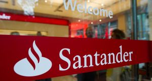Although shares in Santander fell 0.9 per cent in choppy trade and Banco Popular's were suspended, Santander said it would buy Popular and carry out a capital increase of around €7 billion.  Photograph: Ron Antonelli/Bloomberg