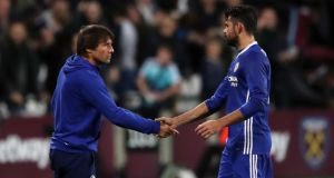 Chelsea striker Diego Costa claims Antonio Conte has told him he is not part of his plans at Chelsea. Photo: Nick Potts/PA Wire