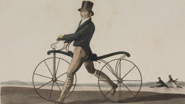 A hobbyhorse bicycle. Image: Getty Images
