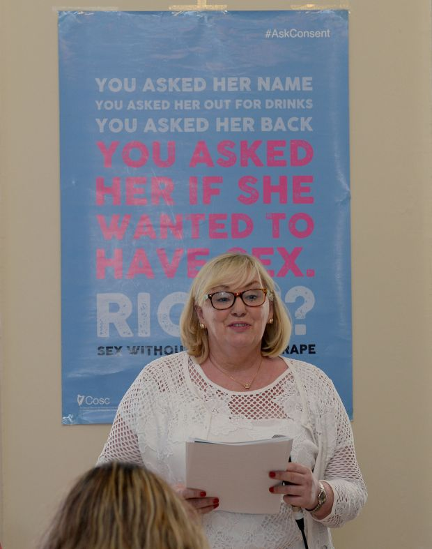 Ann Marie Gill, chairperson, at the launch of the Dublin Rape Crisis Centre annual report. Photograph: Eric Luke