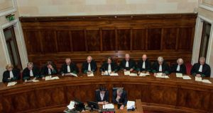 File picture of the Supreme Court. The court, by a majority ruling of four to one, has decided that champerty, or litigation financing, is not legal in this jurisdiction. Photograph: Collins Courts