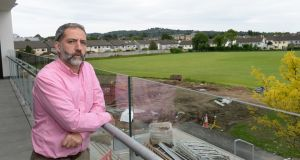 Principal of Clonkeen College Edward Melly has criticised the Christian Brothers' decision to sell 3 hectares (7.5 acres) of playing fields behind the school. Photograph: Dara Mac Dónaill/The Irish Times