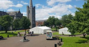 The public three day Ramadan event in St Patrick's Park hopes to promote discussion and understanding around Islam. Photograph: Under One Tent