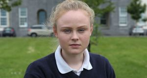 "Lauren Conway, a Leaving Cert student at Coláiste Éinde, Galway: ""The question on 'Hamlet' asked us to examine it as a disturbing psychological thriller, and I think most students were quite happy with this question."" Photograph: Joe O'Shaughnessy"