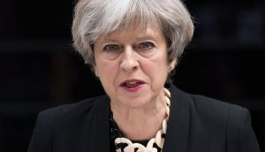 British Prime Minister Theresa May fell short of an overall majority