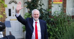 Jeremy Corbyn  gestures as he leaves his home in London on Friday. A Labour approach to Brexit would probably pay more attention to Northern Ireland issues. Photograph: Bloomberg
