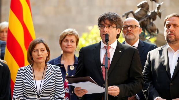 Catalonia steps up separatist challenge with Oct. 1 vote