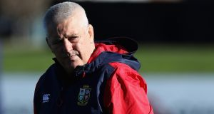 Warren Gatland, the Lions head coach looks on during a training session in Christchurch on Friday. Photo: David Rogers/Getty Images