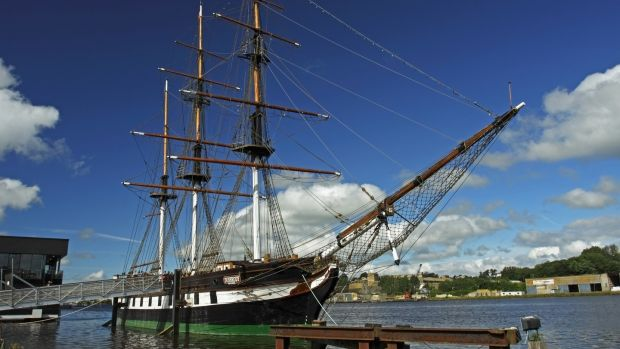'The Dunbrody', an authentic reproduction of an 1840s emigrant vessel, is a wonderful quayside attraction in New Ross