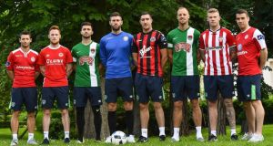 The eight players who began their careers in the League of Ireland and went on to represent Ireland at Euro 2016. Photo: FAI Twitter