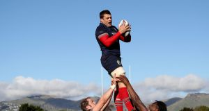 CJ Stander rises above the mountains during Lions training on Friday. Photo: Dan Sheridan/Inpho