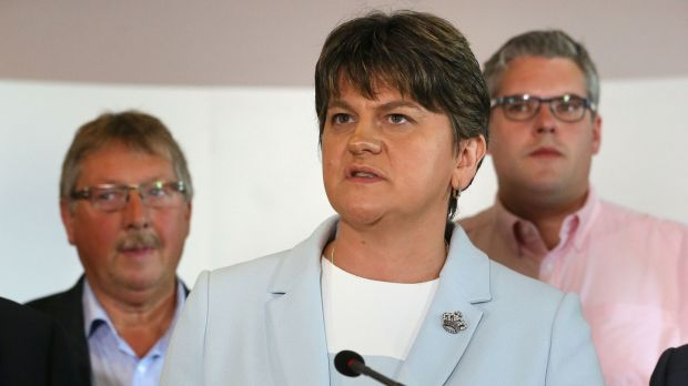 "DUP leader Arlene Foster: ""It may be possible to bring stability to our nation at this time of great challenge."" Photograph: Brian Lawless/PA"