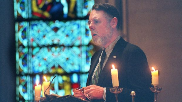 Terry Waite at a service in Christ Church Cathedral, Dublin, in 1997. Photograph: Frank Miller