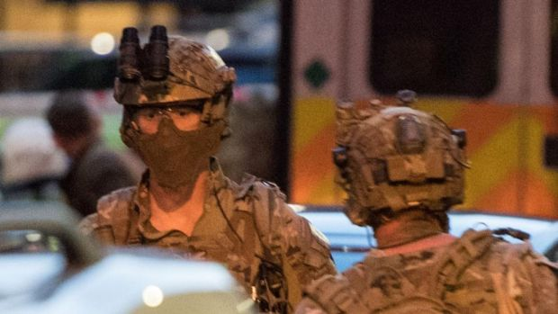 London Bridge terror attack: armed officers outside Borough Market on June 4th. Photograph: Chris J Ratcliffe/AFP/Getty