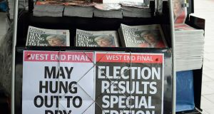British newspapers display in London on Friday  Photograph: EPA