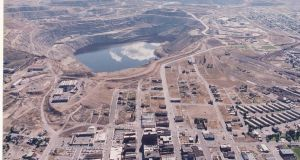 The Berkeley Pit in Butte, Montana, the US.