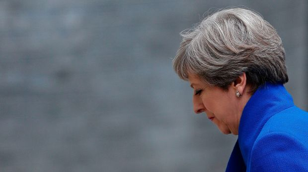 British prime minister Theresa May promised strong and stable leadership, but her party's words and actions over the past year, as well as her poor campaign, pointed to weakness, opportunism and self-doubt. Photograph: Adrian Dennis/AFP/Getty Images