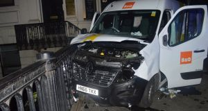 The van used in the London Bridge attacks. Photograph: Metropolitan Police/PA Wire
