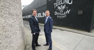 Stephen  and Jack Teeling, who set up  Teeling Distillery in Dublin's Liberties in 2015.