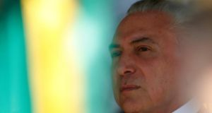 President of Brazil Michel Temer has vehemently denied the accusation of spying. Photograph:  Igo Estrela/Getty Images)
