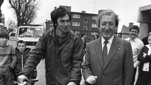 """You know what I want. Now, what do you want?"": Such was how Charles Haughey (right) greeted Tony Gregory in 1982. Photograph: Peter Thursfield"