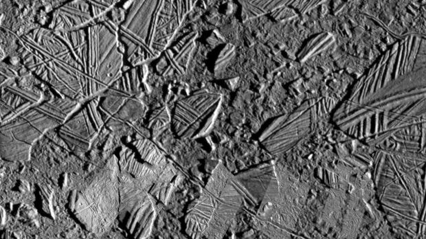 Conamara Chaos on Jupiter's moon Europa. Photograph: Nasa