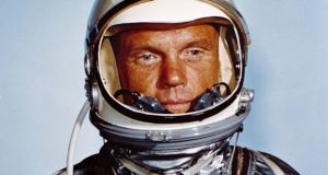 The first American to  orbit the Earth, John Glenn, had an ancestor who emigrated from Ireland to Pennsylvania in 1768. Photograph:  Nasa