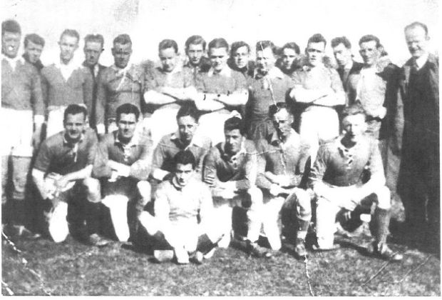 Father's Day: Frank McNally's dad lining out for the Carrickmacross Emmets GAA team, circa 1937. He's fourth from the right at the back, looking a bit like Stan Laurel
