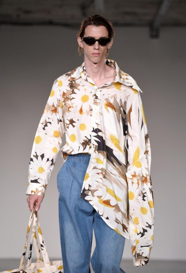 Alex Mullins: the man-floral reboot. Photograph: Jeff Spicer/Getty Images