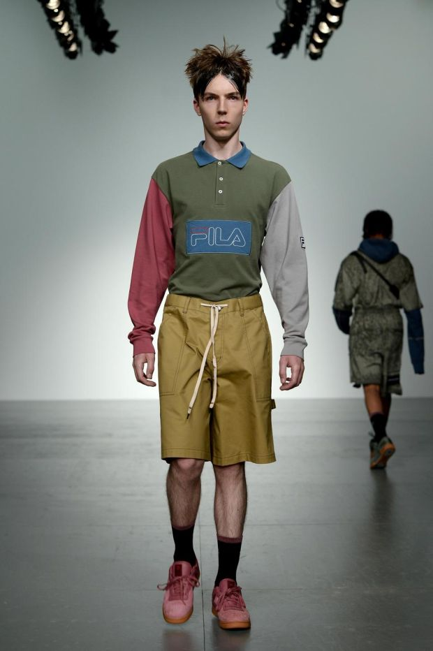 Liam Hodges showcased a collaboration with Fila, the vintage Italian sportswear bran. Photograph: Eamonn M. McCormack/Getty Images