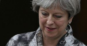 Postelection blues: if Theresa May were to say that she will quit as prime minister by the Conservative Party conference in October, some of the rancour against her would ease. Photograph: Daniel Leal-Olivas/AFP/Getty
