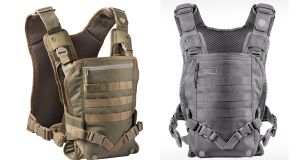 The Mission Critical baby carrier could be called flak-jacket chic