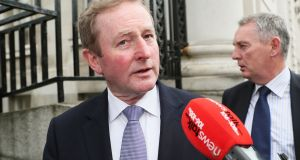 Enda Kenny arrives at Government Buildings in  Dublin for his last day as Taoiseach. Photograph: Brian Lawless/PA Wire