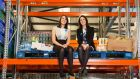 FoodCloud cofounders Iseult Ward and Aoibheann O'Brien at their new  FoodCloud Hub in Tallaght. Photograph: Naoise Culhane