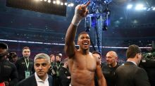 Anthony Joshua will return to training in early August in preparation for a fight in the autumn. Photograph: PA