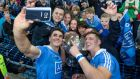 Dublin's Bernard Brogan and Paul Flynn take a selfie with supporters after last year's All-Ireland final. Photograph: Cathal Noonan/Inpho