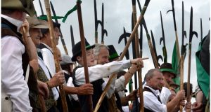 A 2013 reenactment of the Battle of Vinegar Hill in  Enniscorthy, Co Wexford. Photograph: Brenda Fitzsimons