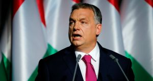Viktor Orban: his allies passed the new law as the EU launched legal action against Hungary, Poland and the Czech Republic for their refusal to accept quotas of refugees. Photograph: Laszlo Balogh/File Photo/Reuters