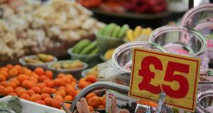 British inflation soared close to a four-year high in May. Photograph:  AFP